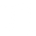 music notes white